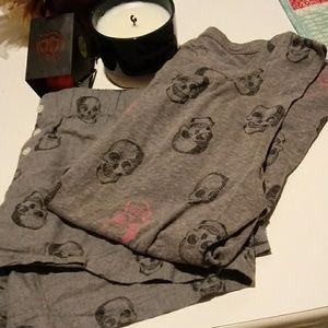 Xhilaration sugar skull pjs..